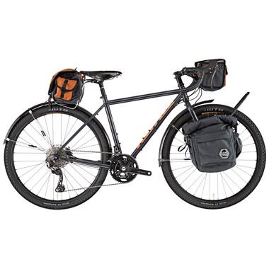 Vélo de Gravel KONA SWIFT ROVE Shimano GRX 30/46 Gris/Orange 2020